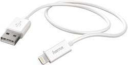 Kabel Hama USB Lightning-A 2.0 1 meter wit