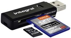 Kaartlezer Integral SD + micro SD naar 3.1 USB-A