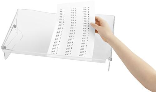 Documentenhouder Quantore A3 hoogte verstelbaar transparant