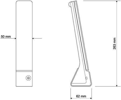 Bureaulamp Maulseven zwart-2