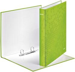 Ringband Leitz WOW A4 2-rings D-mech 25mm karton groen