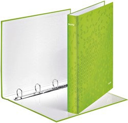 Ringband Leitz WOW A4 4-rings D-mech 25mm karton groen