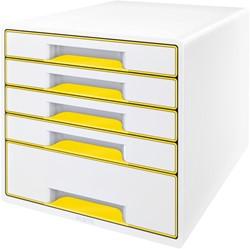 Ladenblok Leitz WOW Cube 5 laden wit/geel