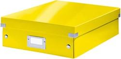 Sorteerbox Leitz WOW Click & Store 281x100x370mm geel