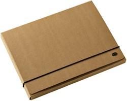 Elastobox Multo Kraft Line A4 3 kleppen 850gr bruin