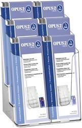 Folderhouder OPUS 2 6vaks 1/3 A4 transparant