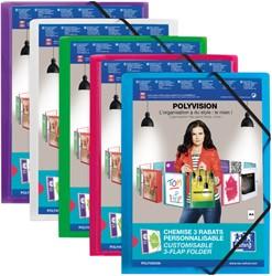 Elastomap Oxford Polyvision A4 inclusief insteektas assorti