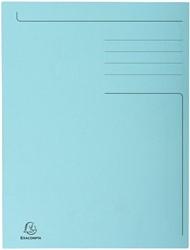 Dossiermap Exacompta Forever A4 3 kleppen 280gr blauw