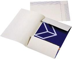 Dossiermap Jalema folio 2 kleppen 180gr ivoor