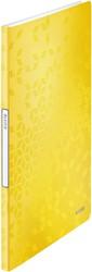 Showmap Leitz WOW A4 20-tassen PP geel