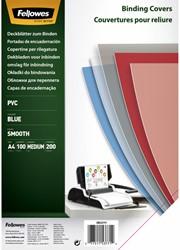 Voorblad Fellowes A4 PVC 200micron blauw 100stuks