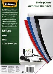 Voorblad Fellowes A4 PP 500micron transparant 50stuks