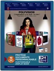 Showalbum Oxford Polyvision A4 20tassen PP blauw