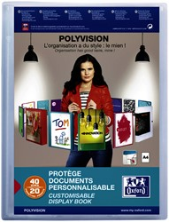 Showalbum Oxford Polyvision A4 20-tassen PP transparant