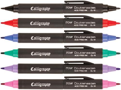 Kalligrafiepen Itoya CL10 1.5 én 3.0mm penpunt zwart-2