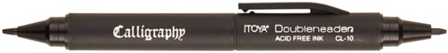 Kalligrafiepen Itoya CL10 1.5 én 3.0mm penpunt zwart
