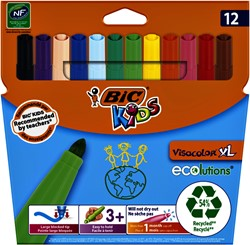 Kleurstift Bic Kids Ecolutions Visacolor XL ass