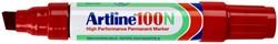 Viltstift Artline 100 schuin 7.5-12mm rood