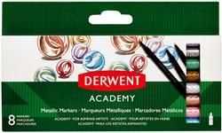Viltstift Derwent Academy metallic blister à 8 stuks assorti