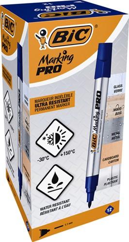 Viltstift Bic Pro 1mm permanent blauw-3