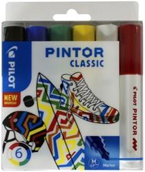 Verfstift Pilot Pintor classic 1.4mm ass etui à 6 stuks assorti