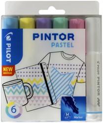 Verfstift Pilot Pintor pastel 1.4mm ass etuis à 6 stuks assorti