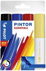 Verfstift Pilot Pintor essentials 8mm etui à 4 stuks ass