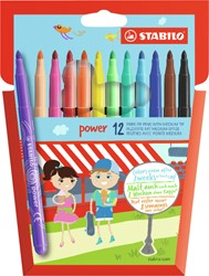 Viltstift STABILO Power 280 etui à 12 kleuren