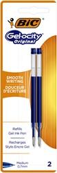 Gelschrijvervulling Bic tbv diverse gelpennen blauw M à 2st