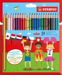 Kleurpotloden STABILO Color 979 kartonnen etui à 24 kleuren
