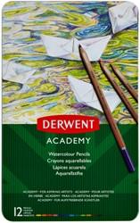 Kleurporloden Derwent Academy aquarel blik à 12 stuks assorti