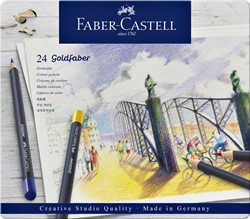 Kleurpotloden Faber Castell Goldfaber blik à 24 stuks assorti