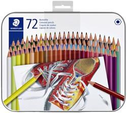 Kleurpotlood Staedtler 6kantig assorti blik à 72 stuks