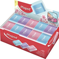Gum Maped Essentials soft pastel display à 40 stuks assorti