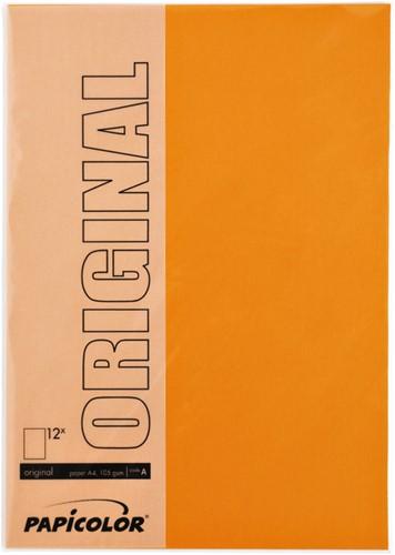 Kopieerpapier Papicolor A4 200gr 6vel oranje-2