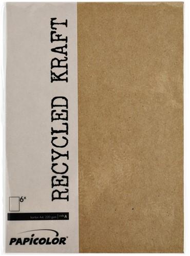 Kopieerpapier Papicolor A4 100gr 12vel kraft bruin-2