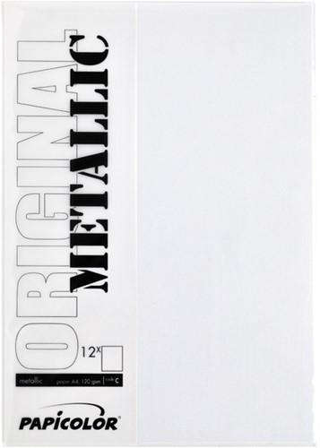 Kopieerpapier Papicolor A4 120gr 6vel metallic parelwit-2