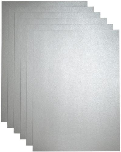 Kopieerpapier Papicolor A4 200gr 3vel metallic zilver