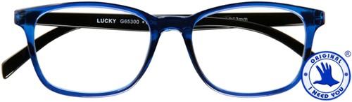 Leesbril I Need You Lucky +2.00 blauw-zwart
