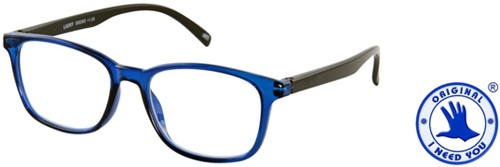 Leesbril I Need You Lucky +2.50 dpt blauw-zwart-2