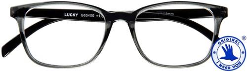 Leesbril I Need You Lucky +1.50 grijs-zwart