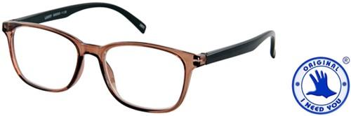 Leesbril I Need You Lucky +1.50 dpt bruin-zwart-2