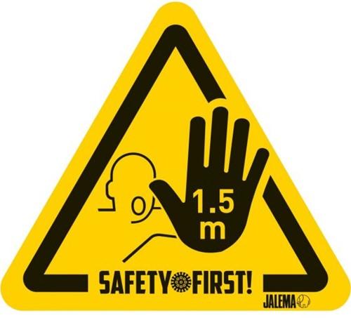 Waarschuwingssticker 1,5M hand *4*