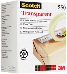 Plakband Scotch 550 12mmx66m transparant