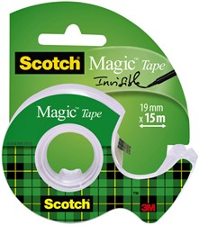 Onzichtbaar plakband Scotch Magic 810 19mmx15m +afroller