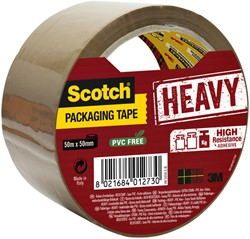 Verpakkingstape Scotch Heavy 50mmx50m bruin