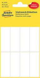 Etiket Avery Zweckform 3079 50x19mm wit 48stuks