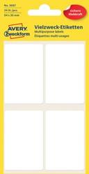 Etiket Avery Zweckform 3087 54x35mm wit 24stuks