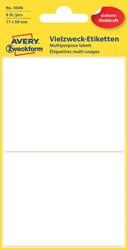 Etiket Avery Zweckform 3046 77x59mm wit 8stuks