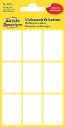 Etiket Avery Zweckform 3045 38x24mm wit 63stuks